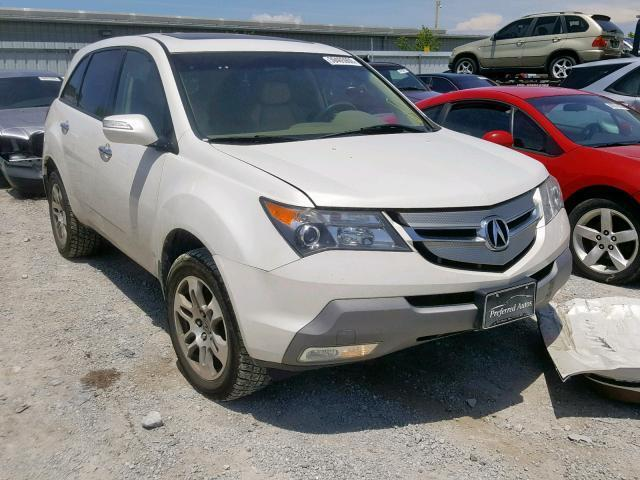 2008 Acura Mdx For Sale >> Salvage Car Acura Mdx 2008 White For Sale In Walton Ky