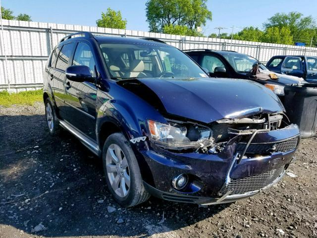 Salvage Car Mitsubishi Outlander 2010 Blue for sale in