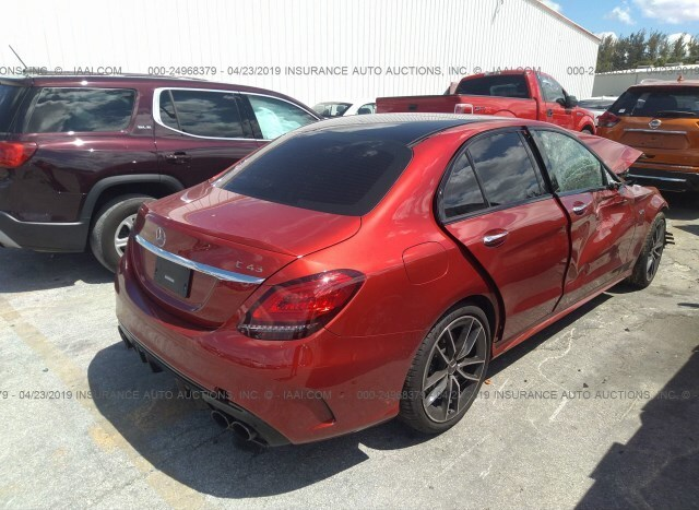 Salvage Car Mercedes-Benz C-Class 2019 Red for sale in Opa