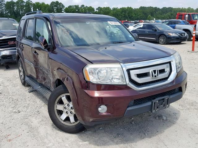 2010 Honda Pilot For Sale >> Salvage Car Honda Pilot 2010 Maroon For Sale In Houston Tx
