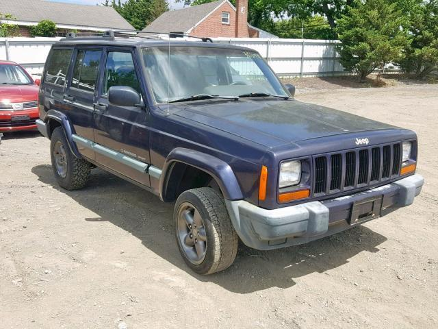Salvage Car Jeep Cherokee 1999 Blue for sale in FINKSBURG MD