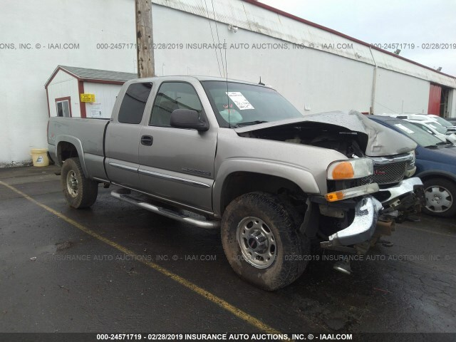 Sierra Auto Auction >> Salvage Car Gmc Sierra 2003 Gold For Sale In Portland Or Online