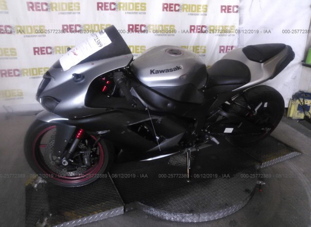 Salvage Motorcycle Kawasaki Zx600 2007 Gray for sale in