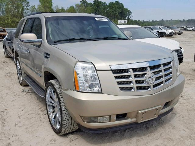 Salvage Car Cadillac Escalade 2008 Gold for sale in HOUSTON