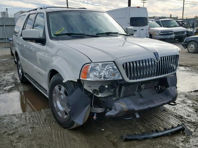 Salvage Car Lincoln Navigator 2006 White For Sale In Los Angeles Ca