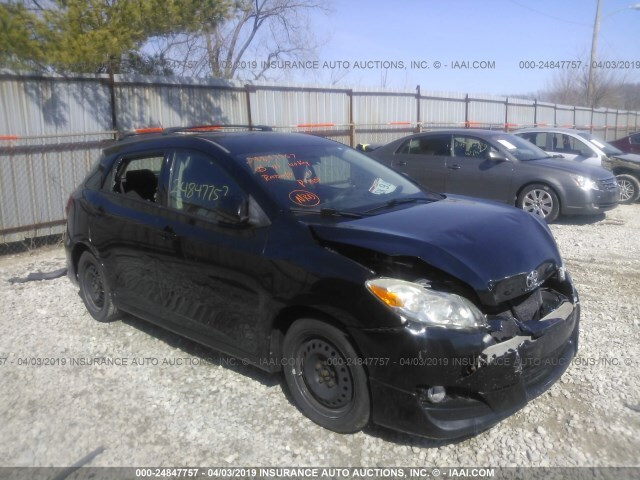 Salvage Car Toyota Matrix 2009 Black For Sale In Grove City Oh