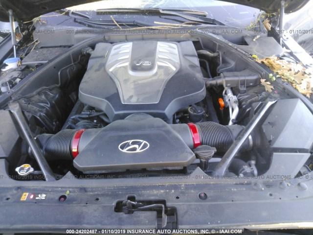 salvage car hyundai genesis  black  sale  jackson ms  auction kmhgnjffu