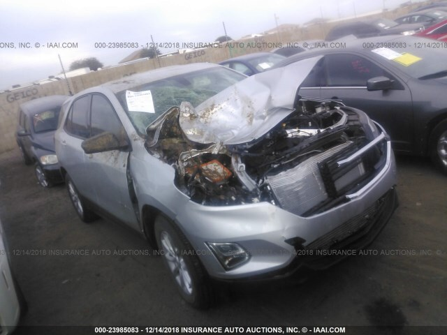 Salvage Car Chevrolet Equinox 2018 Silver For Sale In Phoenix Az
