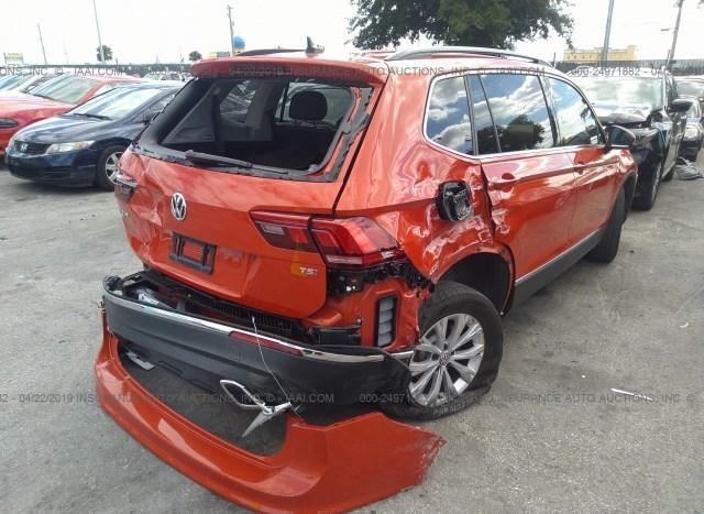 Salvage Car Volkswagen Tiguan 2018 Orange for sale in Opa