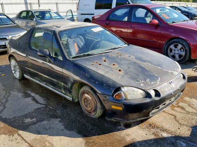 Salvage Car Honda Civic Del Sol 1993 Black For Sale In Eight Mile Al