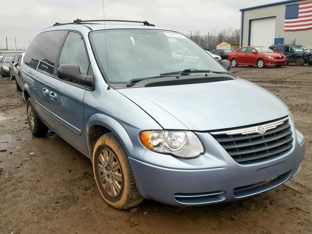 Salvage Car Chrysler Town And Country 2005 Blue For Sale In