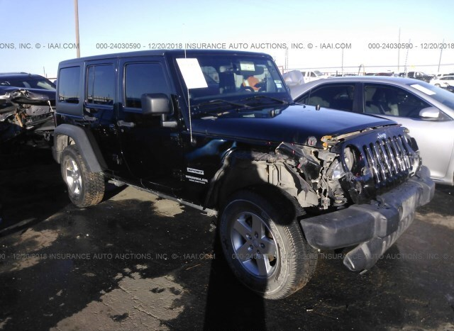 93278bcb Salvage Car Jeep Wrangler 2013 Black for sale in Lubbock TX online ...