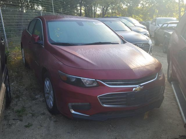 Salvage Car Chevrolet Malibu 2017 Burgundy For Sale In Madison Wi