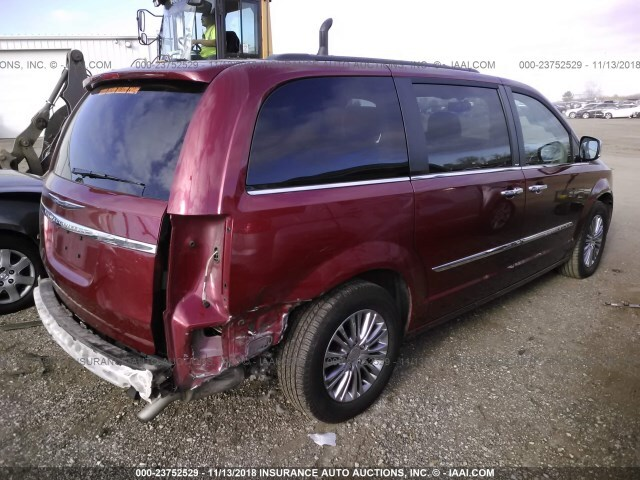 Salvage Car Chrysler Town Amp Country 2013 Red For Sale In East
