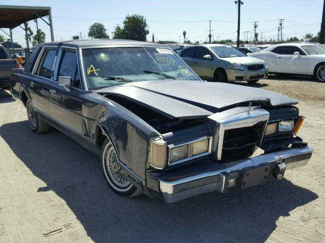 Auction Ended Salvage Car Lincoln Town Car 1988 Blue Is Sold In Los