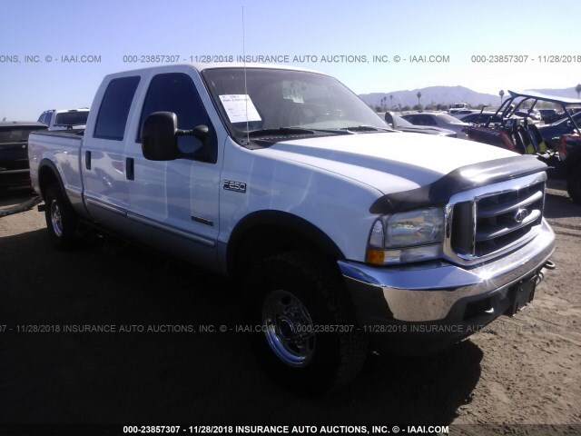 Salvage Car Ford F250 2004 White For Sale In Phoenix Az Online