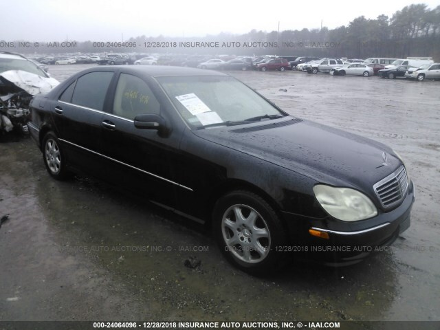 Salvage Car Mercedes Benz S Class 2001 Black For Sale In Medford Ny