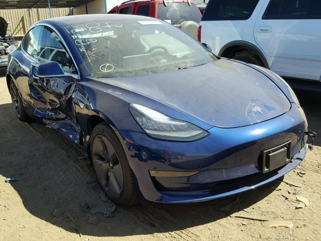 Auction Ended Salvage Car Tesla Model 3 2018 Blue Is Sold In