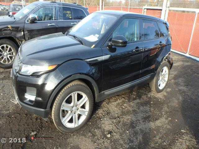 Salvage Car Land Rover Range Rover Evoque 2015 Black For Sale In