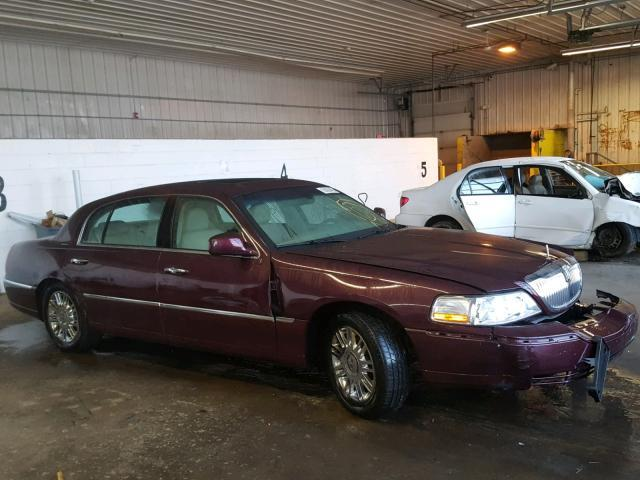 Salvage Car Lincoln Town Car 2006 Purple For Sale In Candia Nh
