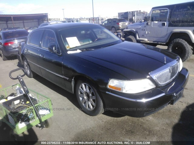 Salvage Car Lincoln Town Car 2009 Black For Sale In Denver Co Online