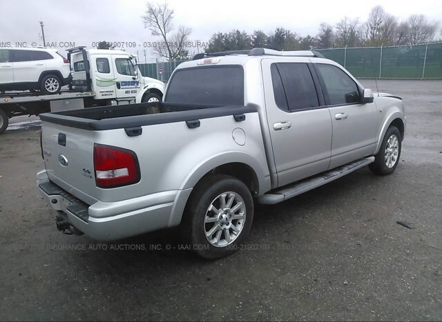 Salvage Car Ford Explorer Sport Trac 2007 Silver For Sale In