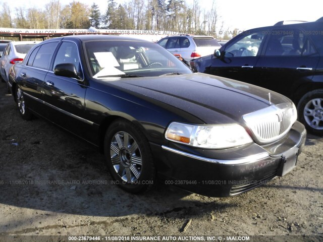 Salvage Car Lincoln Town Car 2011 Black For Sale In Tukwila Wa