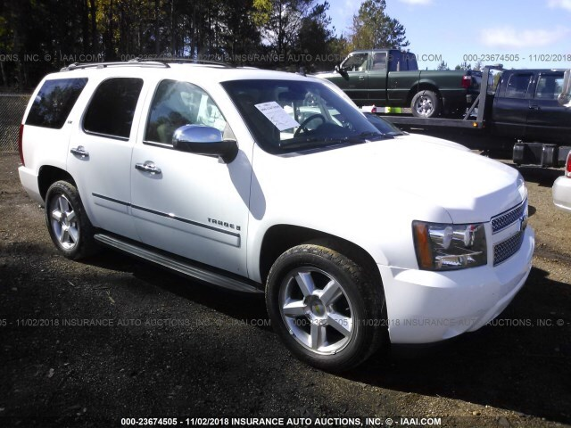 Salvage Car Chevrolet Tahoe 2009 White For Sale In Jackson Ms Online