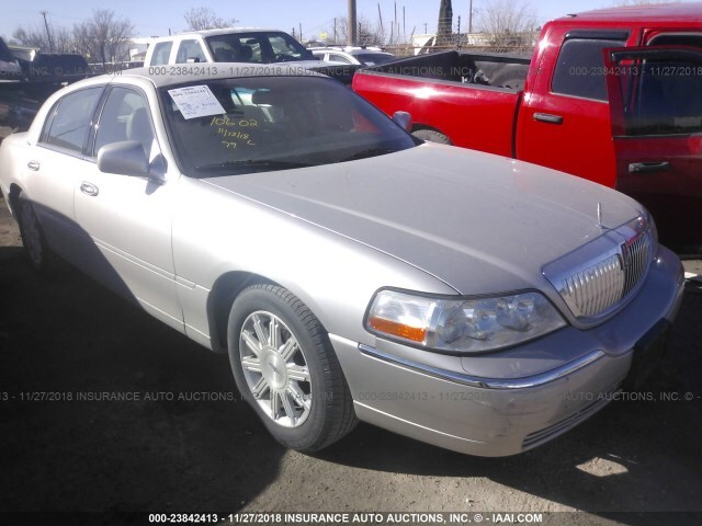 Salvage Car Lincoln Town Car 2009 Silver For Sale In Odessa Tx
