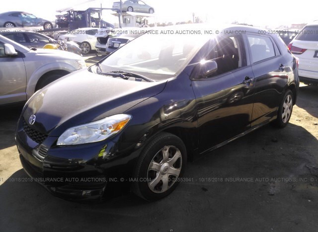 Salvage Car Toyota Matrix 2009 Black For Sale In North Hollywood Ca
