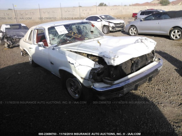 Salvage Car Chevrolet Nova 1976 White For Sale In Phoenix Az Online