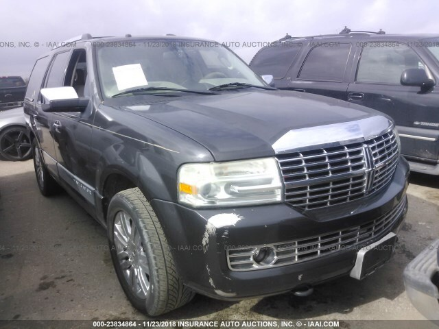Salvage Car Lincoln Navigator 2007 Gray For Sale In Houston Tx