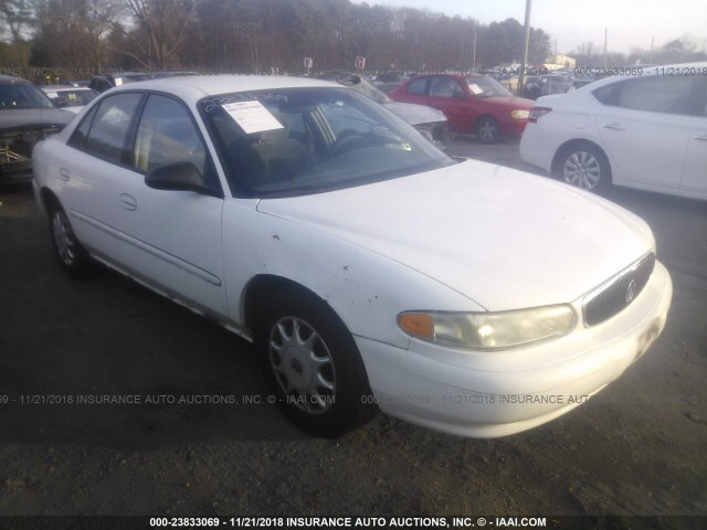 Car Auctions Ny >> Salvage Car Buick Century 2003 White For Sale In Medford Ny