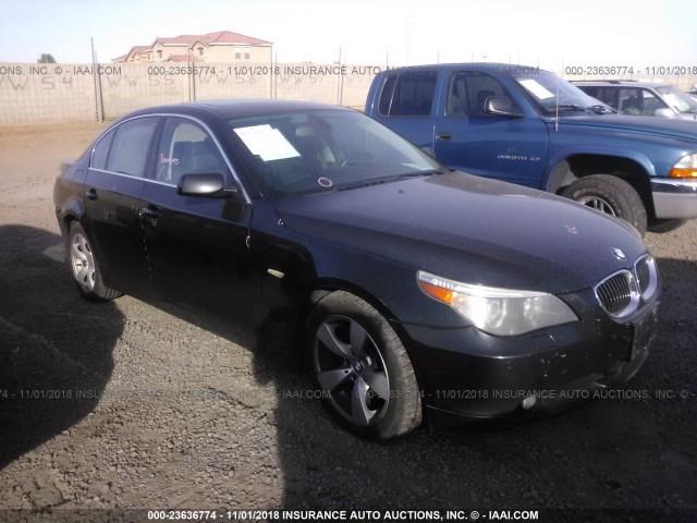 Salvage Car Bmw 5 Series 2007 Black For Sale In Phoenix Az Online