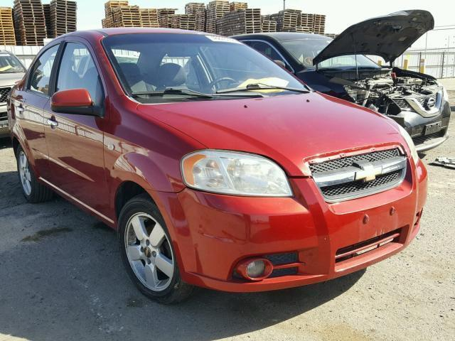 Auction Ended Salvage Car Chevrolet Aveo 2008 Red Is Sold In Fresno