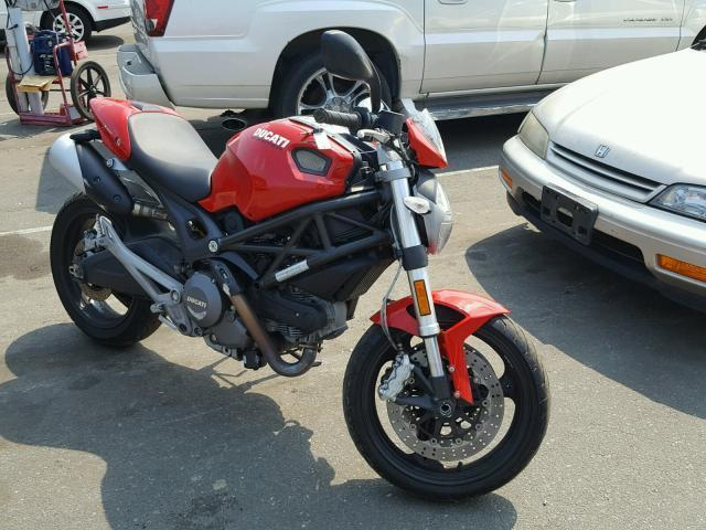 Salvage Motorcycle Ducati Monster 696 Abs 2011 Red For Sale In