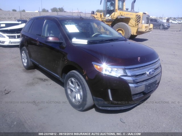 Salvage Car Ford Edge 2012 Maroon For Sale In Phoenix Az Online