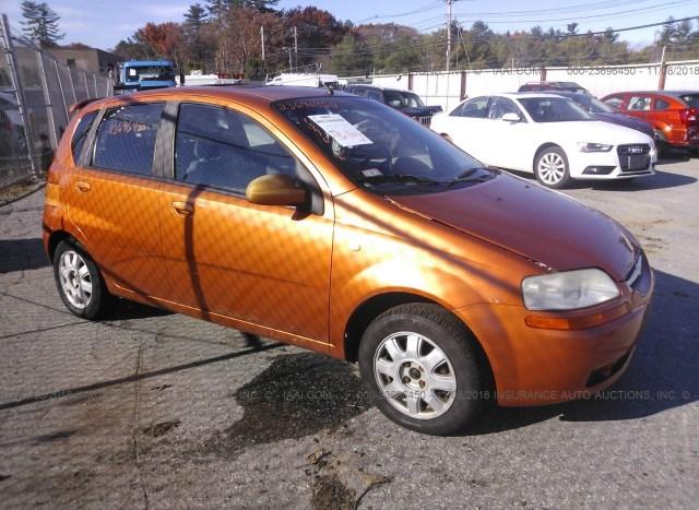 Salvage Car Chevrolet Aveo 2005 Orange For Sale In Salem Nh Online