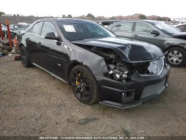 Salvage Car Cadillac Cts V 2012 Black For Sale In Phoenix Az Online