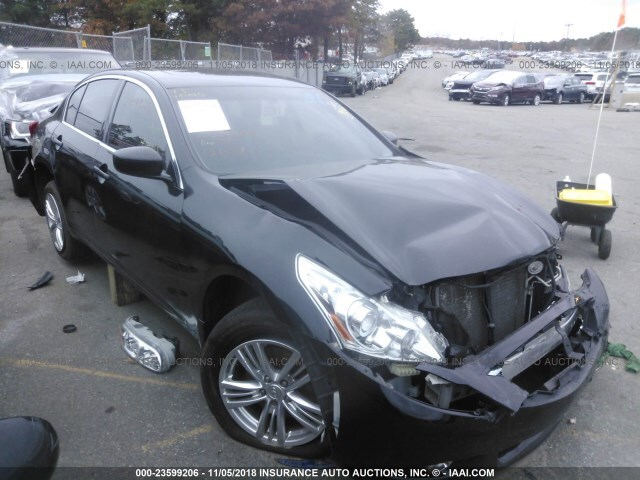 Salvage Car Infiniti G37x 2013 Black For Sale In Medford Ny Online