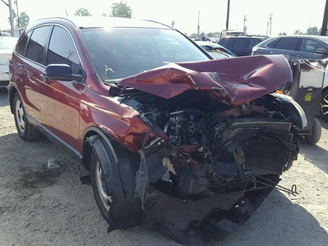 Salvage Car Honda Cr V 2009 Burgundy For Sale In Los Angeles Ca