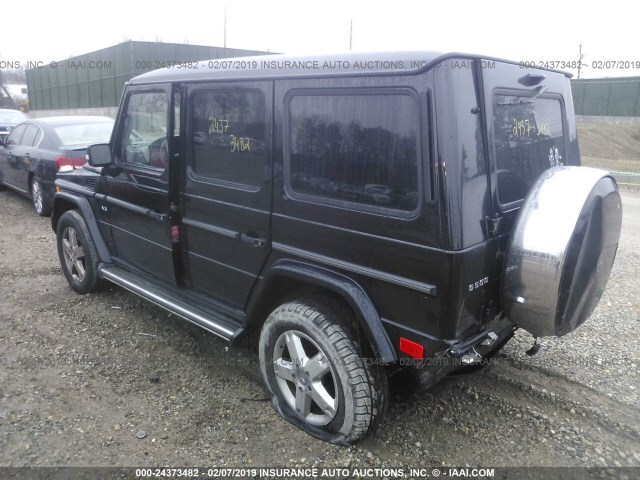 Salvage Car Mercedes-Benz G-Class 2008 Black for sale in