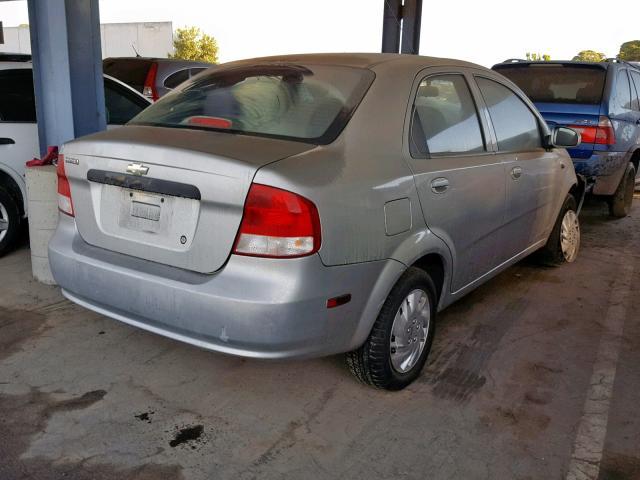 Salvage Car Chevrolet Aveo 2004 Gray For Sale In Sacramento Ca
