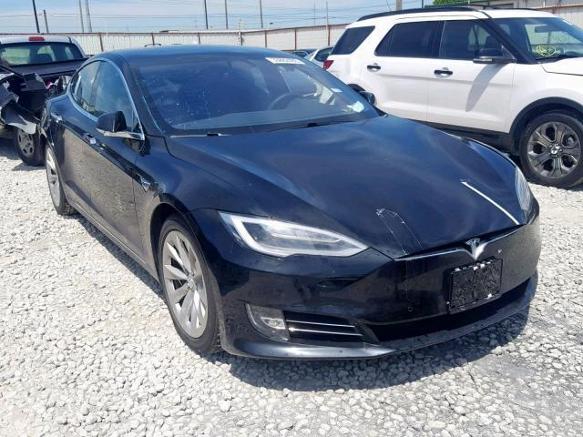 Salvage Car Tesla Model S 2018 Black for sale in HASLET TX online