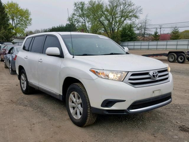 2012 Toyota Highlander For Sale >> Salvage Car Toyota Highlander 2012 White For Sale In Finksburg Md