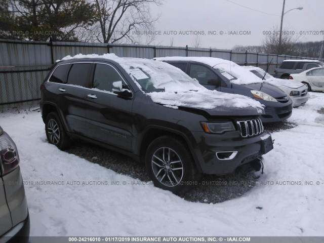 Salvage Car Jeep Grand Cherokee 2017 Black For Sale In Grove City Oh