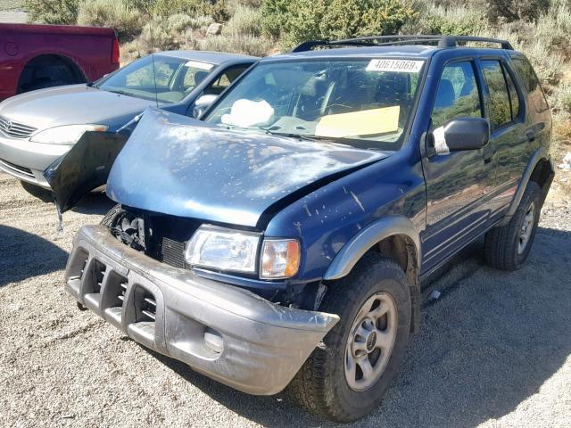 Salvage Car Isuzu Rodeo 2002 Blue for sale in RENO NV online