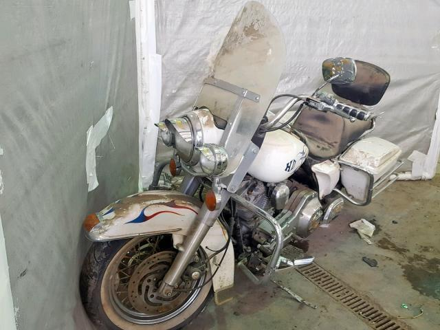 Salvage Motorcycle Harley-Davidson Flhs 1991 White for sale