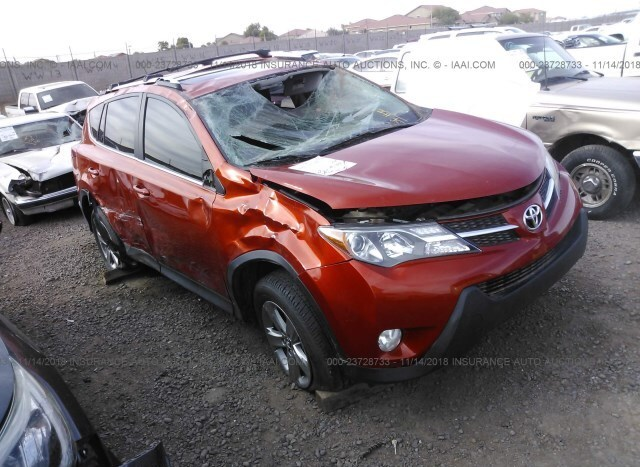 Auction Ended Salvage Car Toyota Rav4 2015 Orange Is Sold In