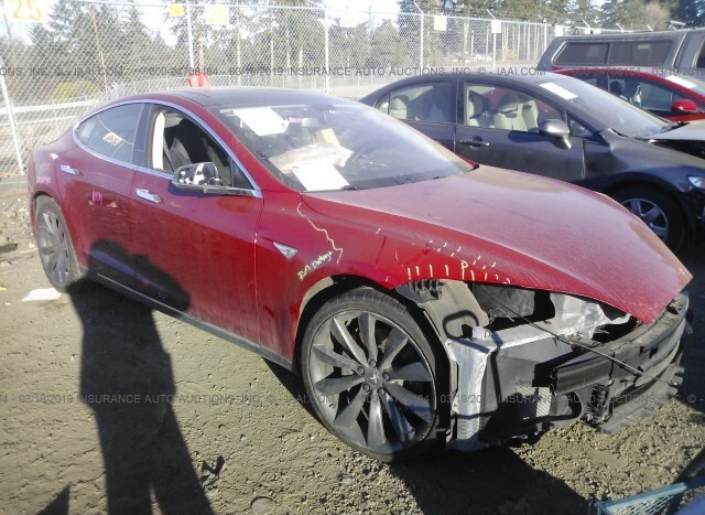Auction Ended Salvage Car Tesla Model S 2013 Red Is Sold In